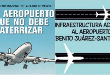 Con historieta, AMLO explica por qué está en contra del nuevo aeropuerto de la CDMX