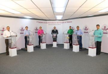 Entre propuestas y críticas realizan primer debate de candidatos al gobierno de Tabasco
