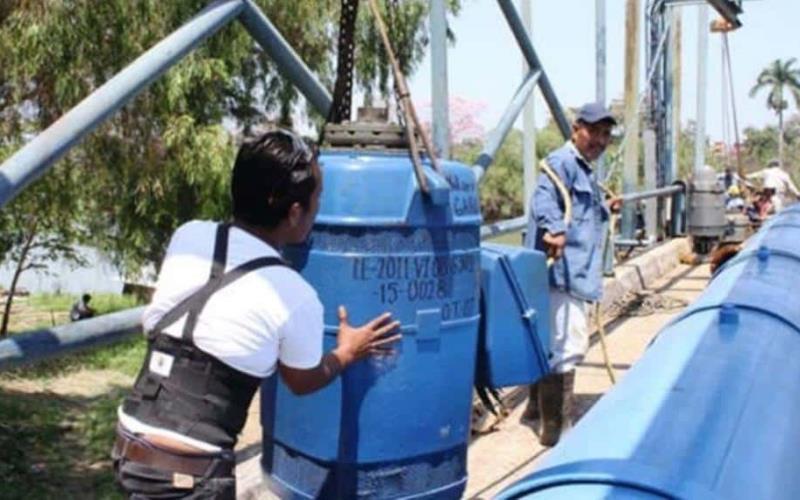Suspensión de agua en Planta Potabilizadora Carrizal