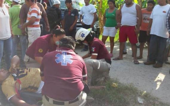 Hieren a chofer de combi por resistirse a asalto en Villahermosa