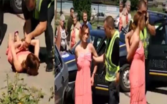 #VIDEO: Joven drogada desató la persecución más absurda