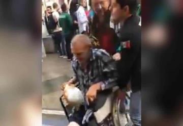Mexicano agrede a ruso en silla de ruedas