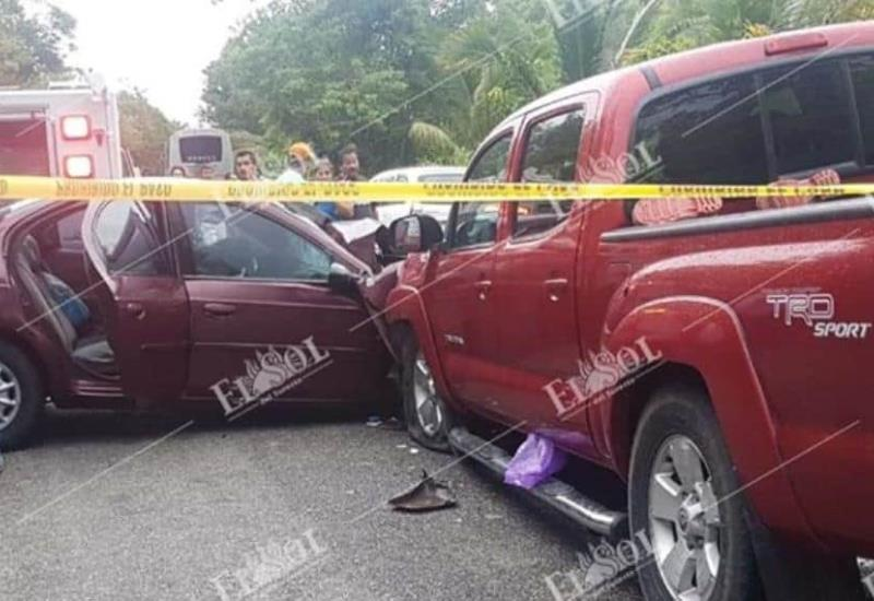 Fuerte accidente en la carretera Villahermosa-Frontera