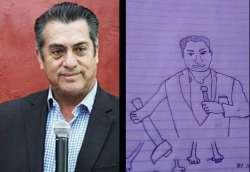 Niños dibujan sádica propuesta de El Bronco contra la inseguridad