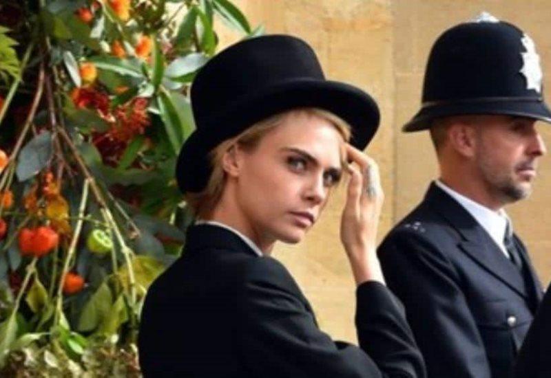 Cara Delevingne y el look con el que causó furor en la boda de la Princesa Eugenia