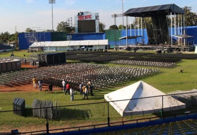 Listo el escenario de Luis Miguel para el concierto en Villahermosa