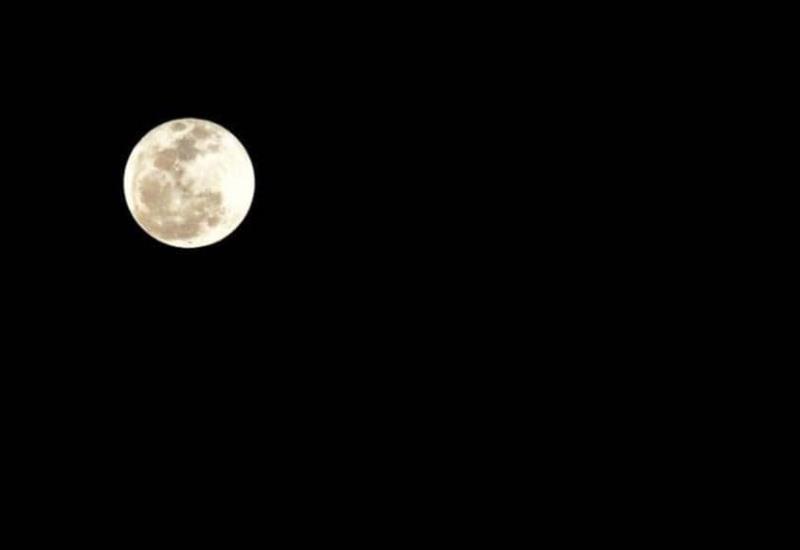 Así se ve la última luna llena del 2018
