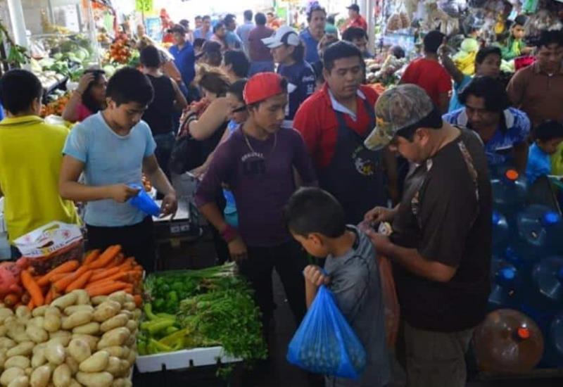 Así luce el mercado de #Villahermosa en vísperas de Noche Buena