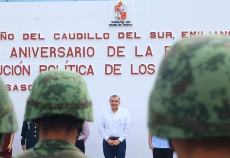Celebra el gobierno de Tabasco el 102 aniversario de a promulgación de la Constitución