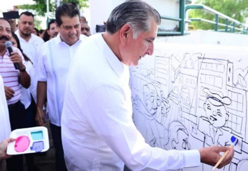 Así fue la inauguración del Programa de Murales Colectivos Infantiles en malecón Carlos A. Madrazo