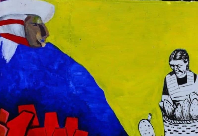 Así va el mega mural en el malecón Carlos A. Madrazo como parte del programa de Murales Colectivos