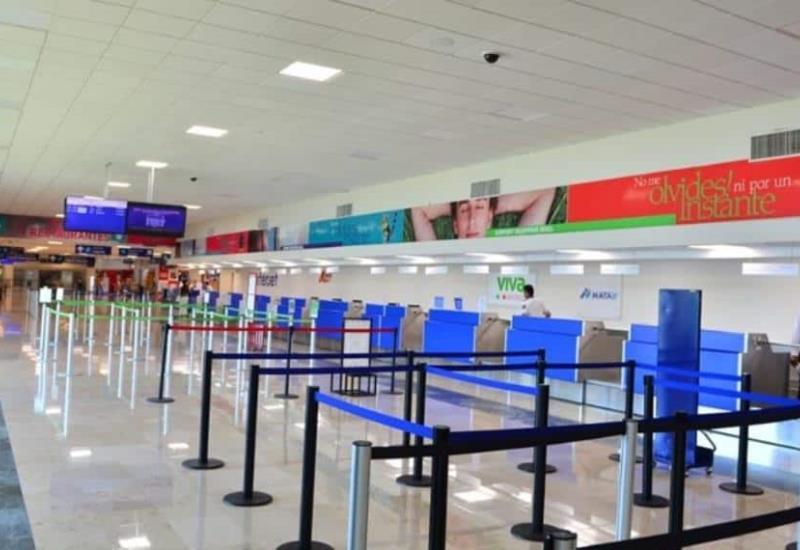 Así luce el Aeropuerto de Villahermosa por contingencia sanitaria en Tabasco