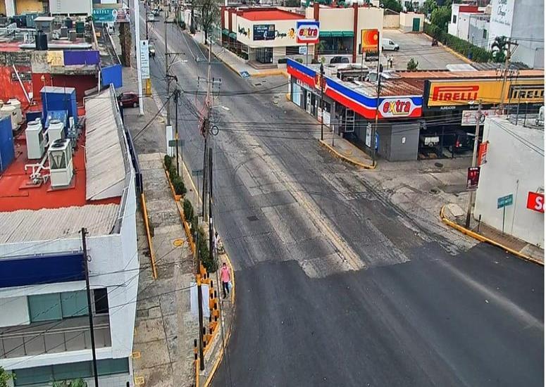 Así amanecieron este domingo las principales vialidades de Villahermosa