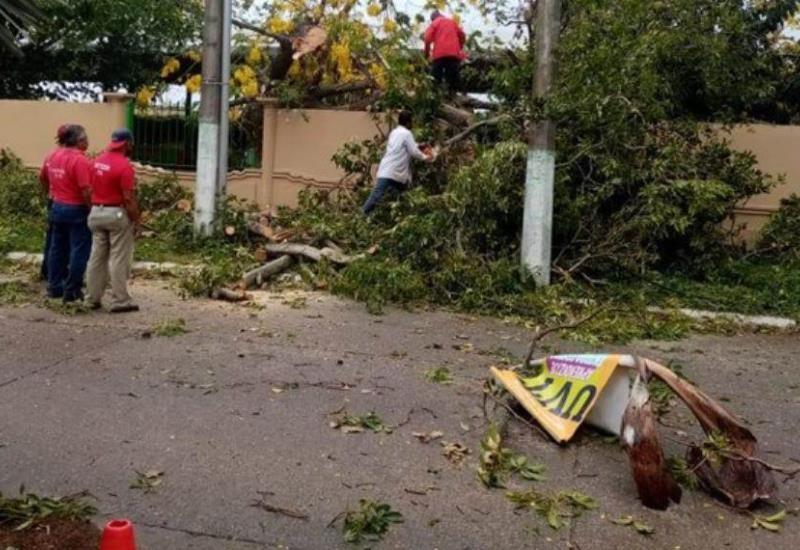 Fuertes ráfagas de viento causan graves afectaciones en siete municipios