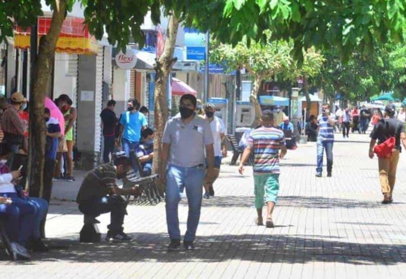 Así luce el centro de Villahermosa este lunes 8 de junio