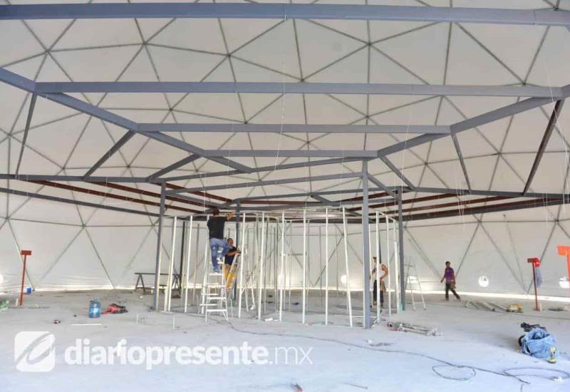Casi lista la burbuja hospitalaria del Parque Tabasco