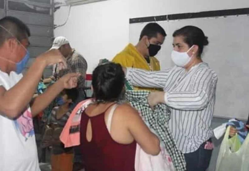 200 personas en los albergues temporales establecidos en el municipio de Teapa
