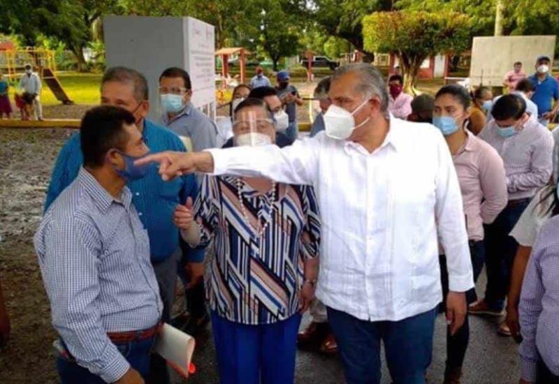El gobernador del estado realiza gira de trabajo por el municipio de Cunduacán