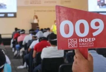 INDEP anuncia octava subasta con sentido social